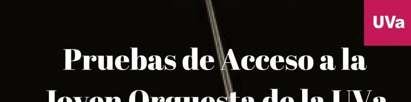 Pruebas de acceso JOUVa – Curso 2017/18